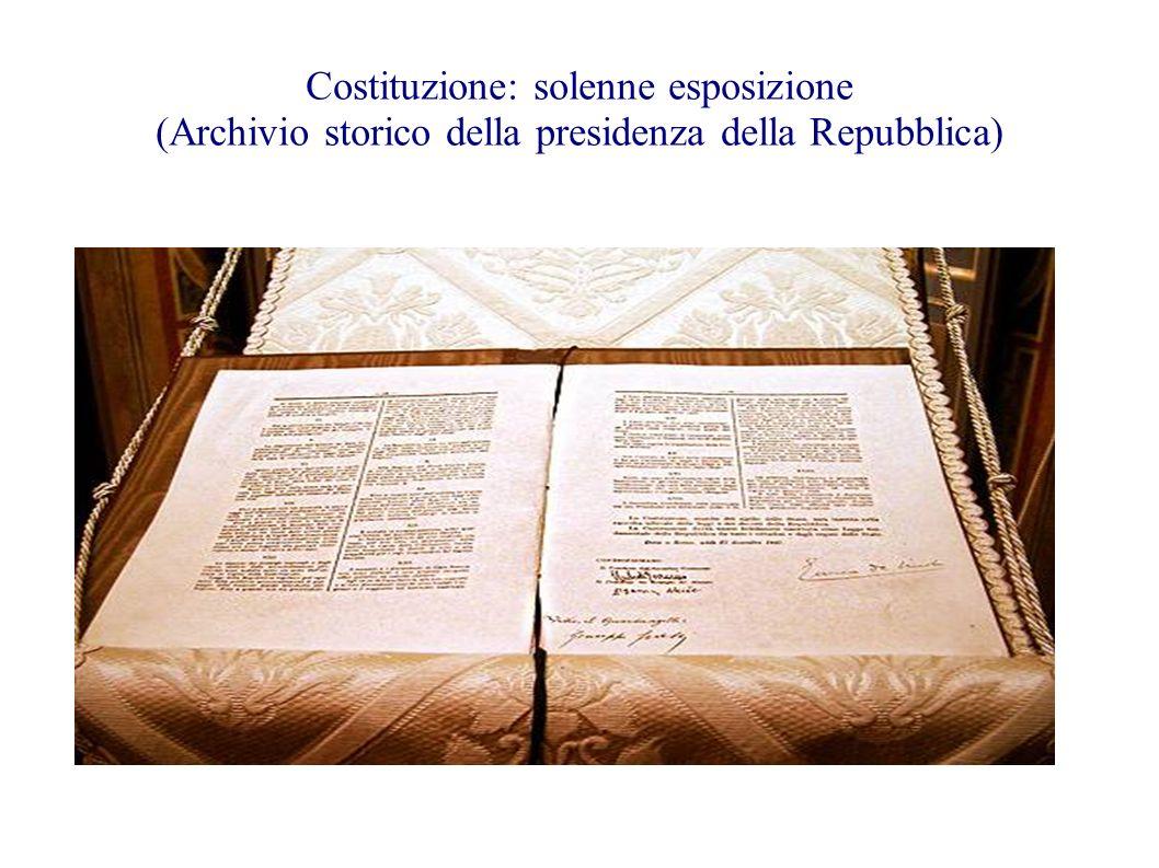 Costituzione: solenne esposizione (Archivio storico della presidenza della Repubblica)