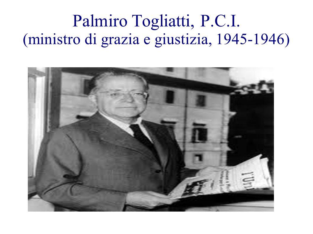 Palmiro Togliatti, P.C.I. (ministro di grazia e giustizia, 1945-1946)