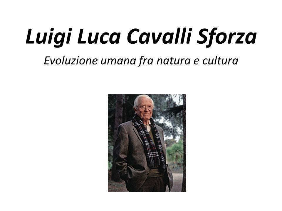 Luigi Luca Cavalli Sforza Evoluzione umana fra natura e cultura