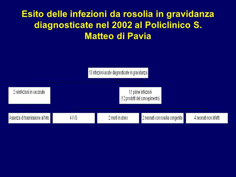 Esito delle infezioni da rosolia in gravidanza diagnosticate nel 2002 al Policlinico S. Matteo di Pavia