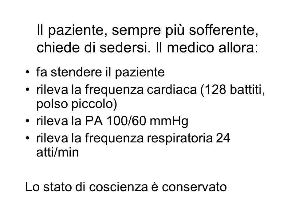 Il paziente ha sempre più difficoltà respiratoria.