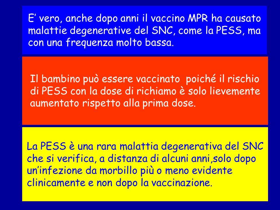 La PESS è una rara malattia degenerativa del SNC che si verifica, a distanza di alcuni anni,solo dopo uninfezione da morbillo più o meno evidente clin