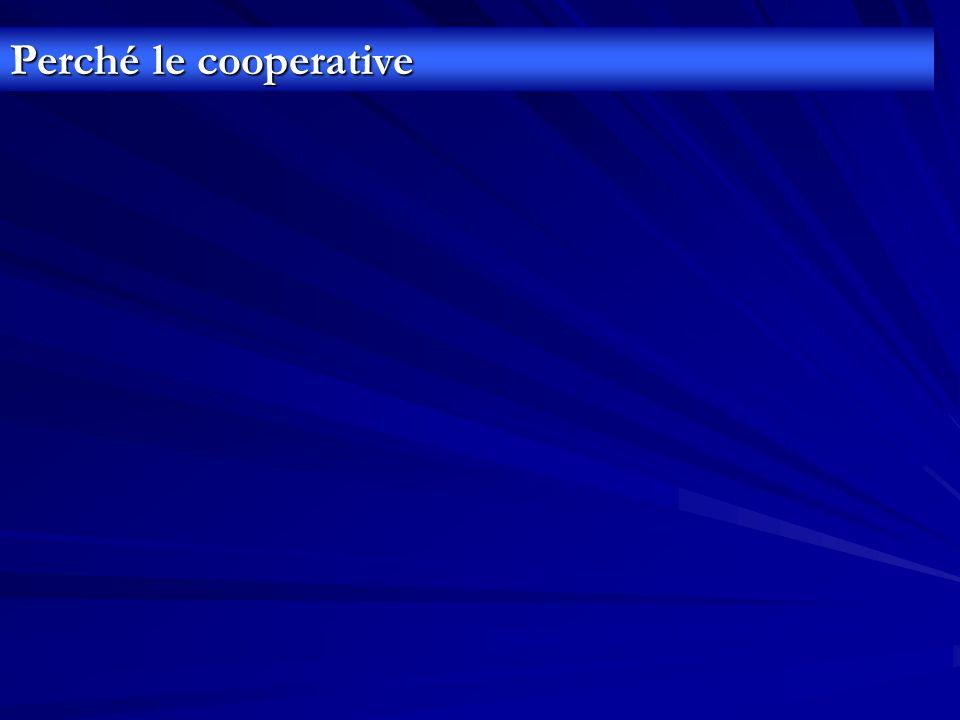 Perché le cooperative