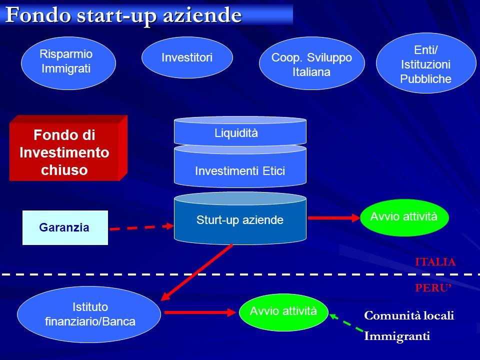 Fondo di Investimento chiuso Risparmio Immigrati InvestitoriCoop. Sviluppo Italiana Liquidità Investimenti Etici Sturt-up aziende Istituto finanziario