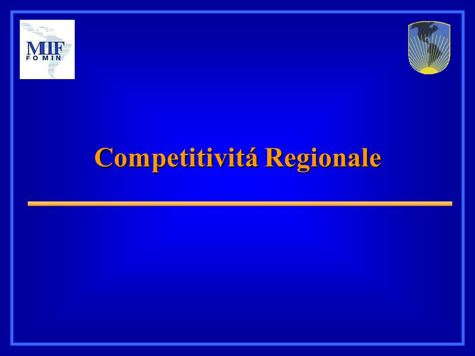 Competitivitá Regionale