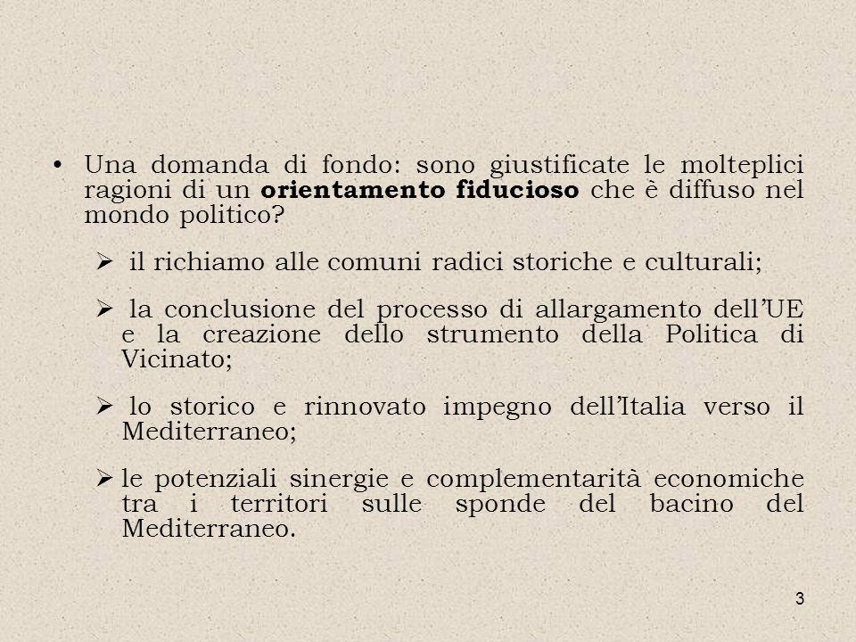 3 Una domanda di fondo: sono giustificate le molteplici ragioni di un orientamento fiducioso che è diffuso nel mondo politico? il richiamo alle comuni