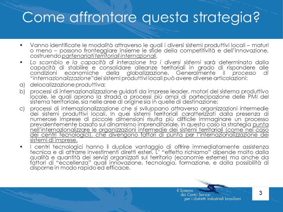 4 i centri tecnologici e la politica industriale In Italia, a partire dai primi anni 80, si è assistito ad una proliferazione dei centri a sostegno delle imprese, nati generalmente – su iniziativa pubblica e privata - con lobiettivo di offrire una vasta gamma di servizi volti a promuovere lo sviluppo delle PMI.