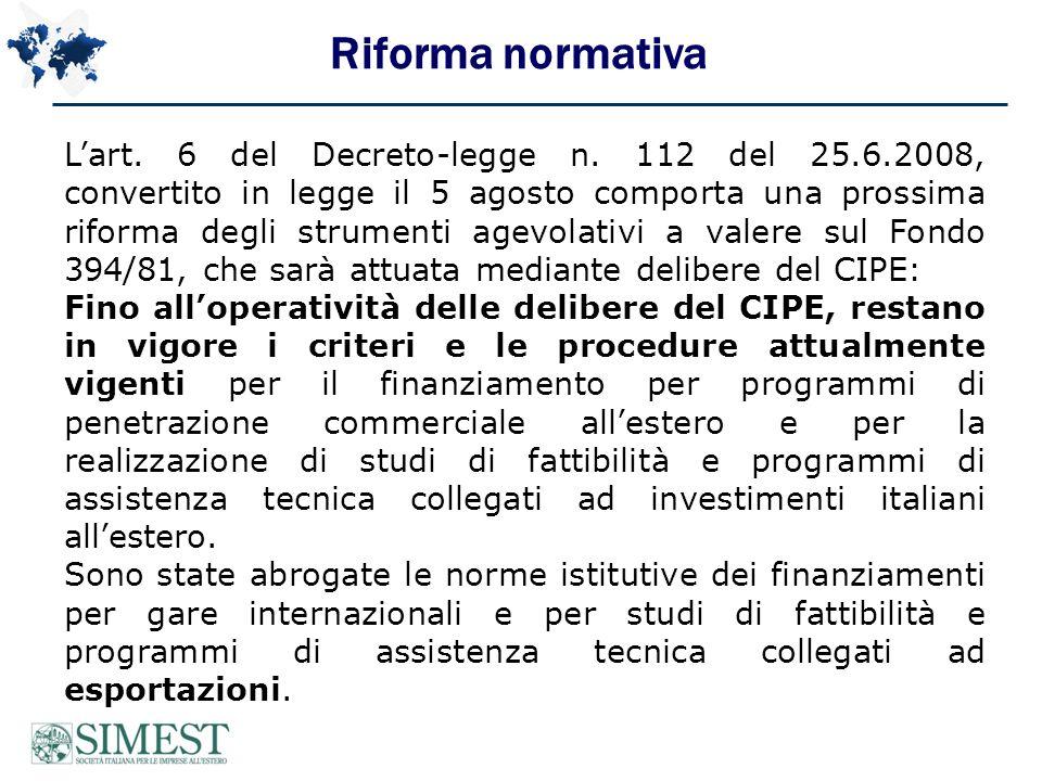 Riforma normativa Lart. 6 del Decreto-legge n.