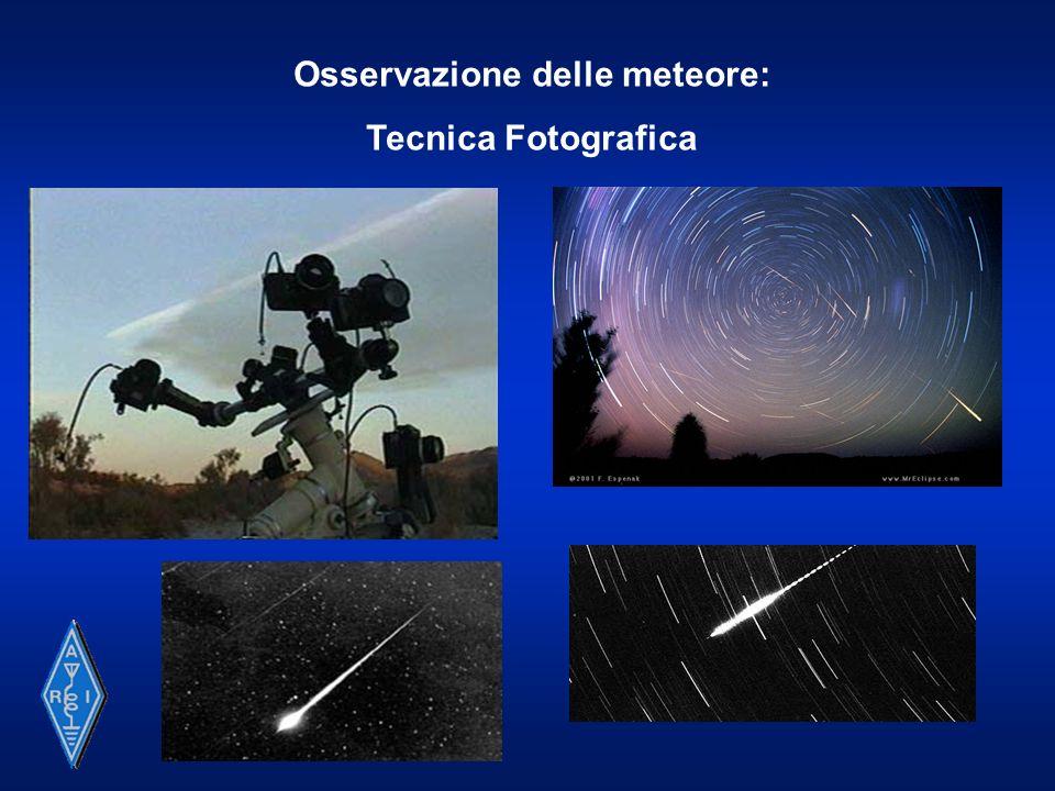 Osservazione delle meteore: Tecnica Telescopica e Video