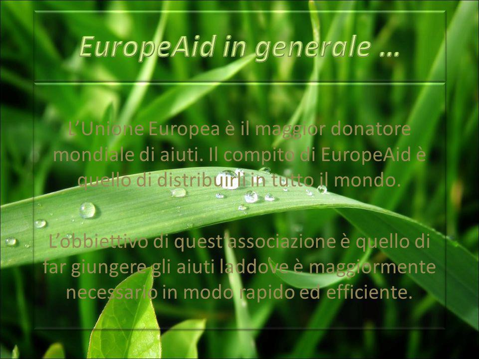 LUnione Europea è il maggior donatore mondiale di aiuti.