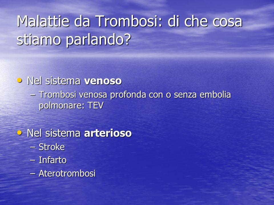 Malattie da Trombosi: di che cosa stiamo parlando.