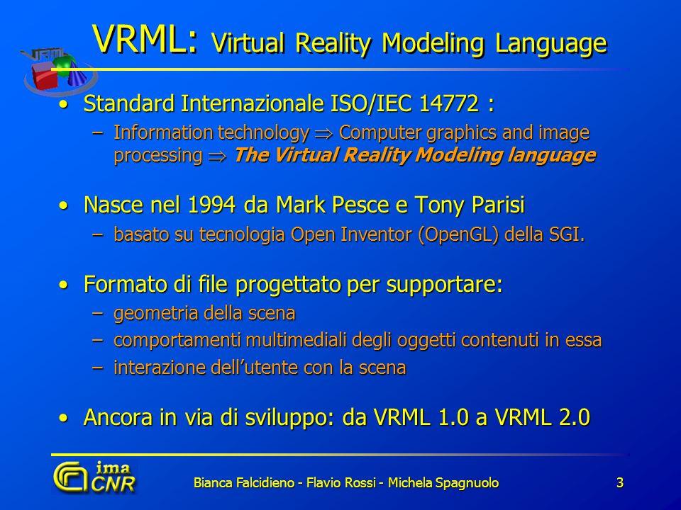 Bianca Falcidieno - Flavio Rossi - Michela Spagnuolo3 Standard Internazionale ISO/IEC 14772 :Standard Internazionale ISO/IEC 14772 : –Information tech