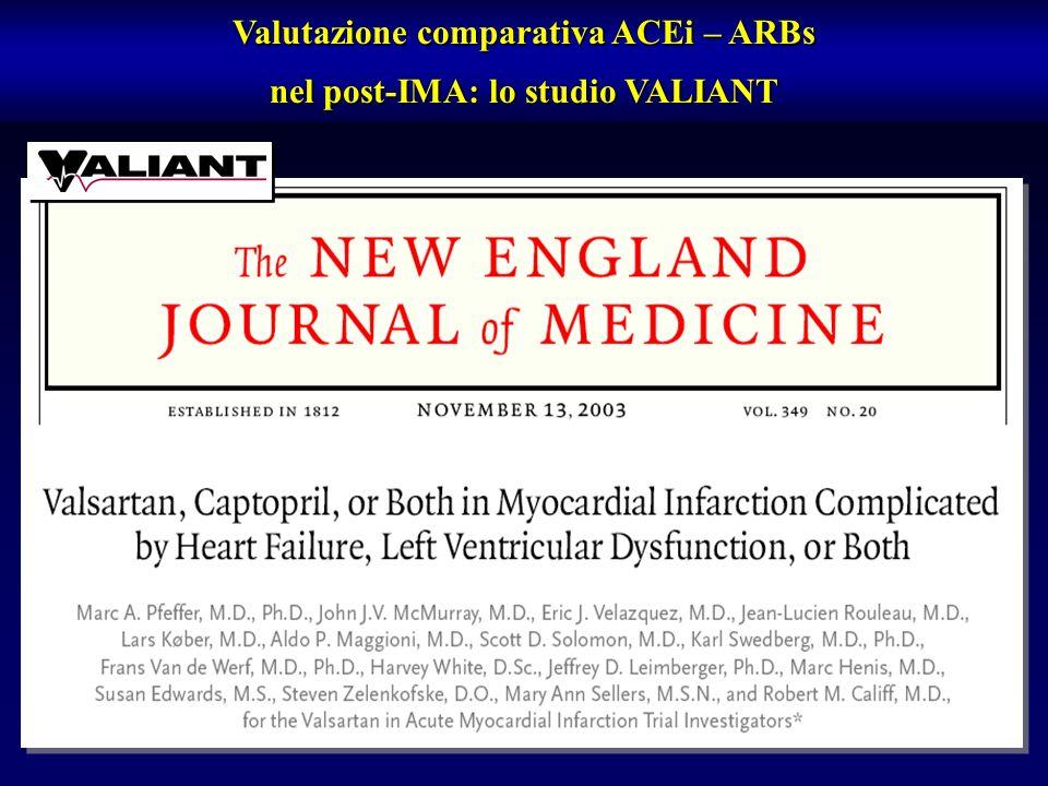 Valutazione comparativa ACEi – ARBs nel post-IMA: lo studio VALIANT