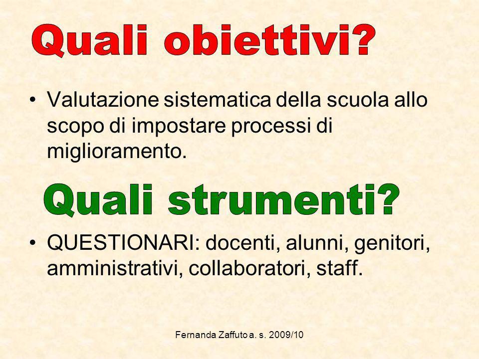 Valutazione sistematica della scuola allo scopo di impostare processi di miglioramento.