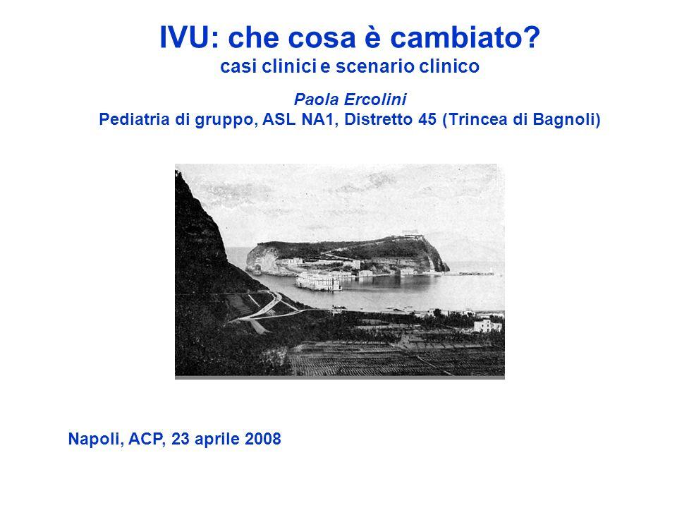 IVU: che cosa è cambiato? casi clinici e scenario clinico Paola Ercolini Pediatria di gruppo, ASL NA1, Distretto 45 (Trincea di Bagnoli) Napoli, ACP,