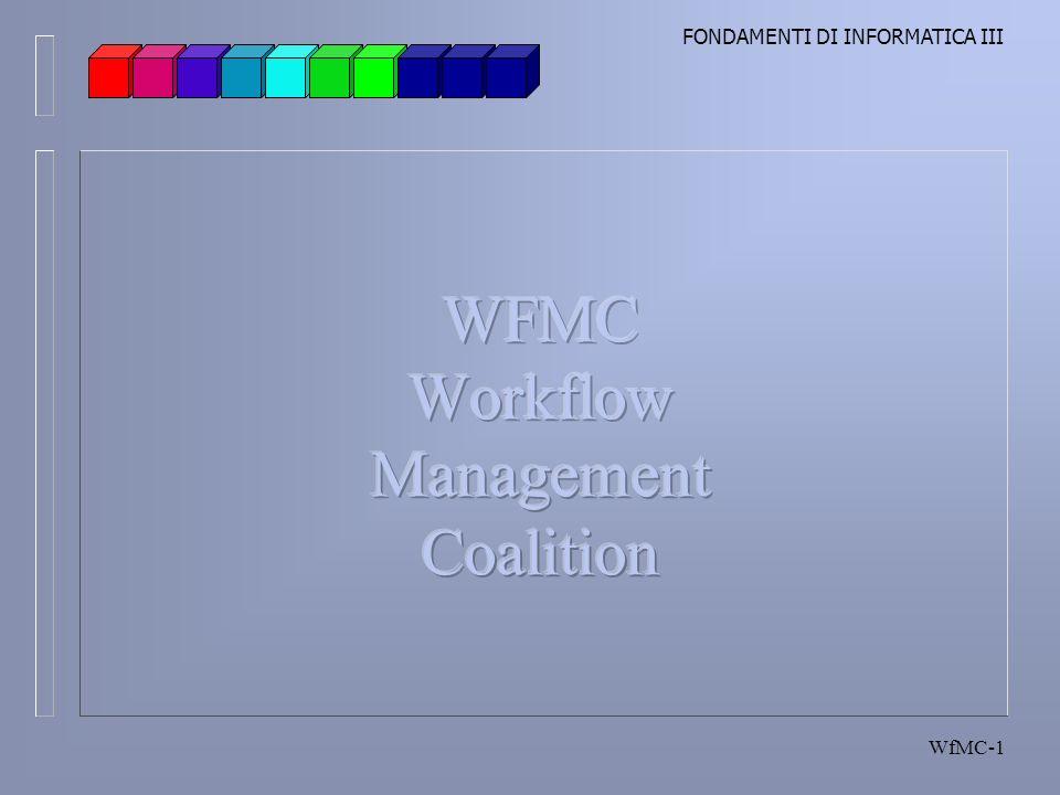 FONDAMENTI DI INFORMATICA III WfMC-1