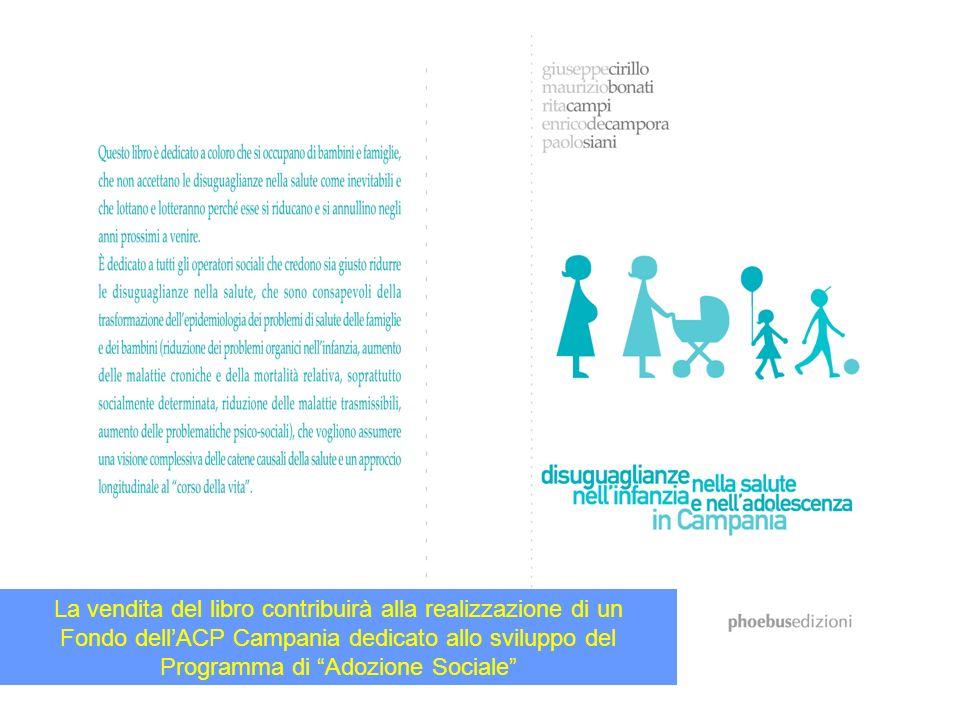 La vendita del libro contribuirà alla realizzazione di un Fondo dellACP Campania dedicato allo sviluppo del Programma di Adozione Sociale