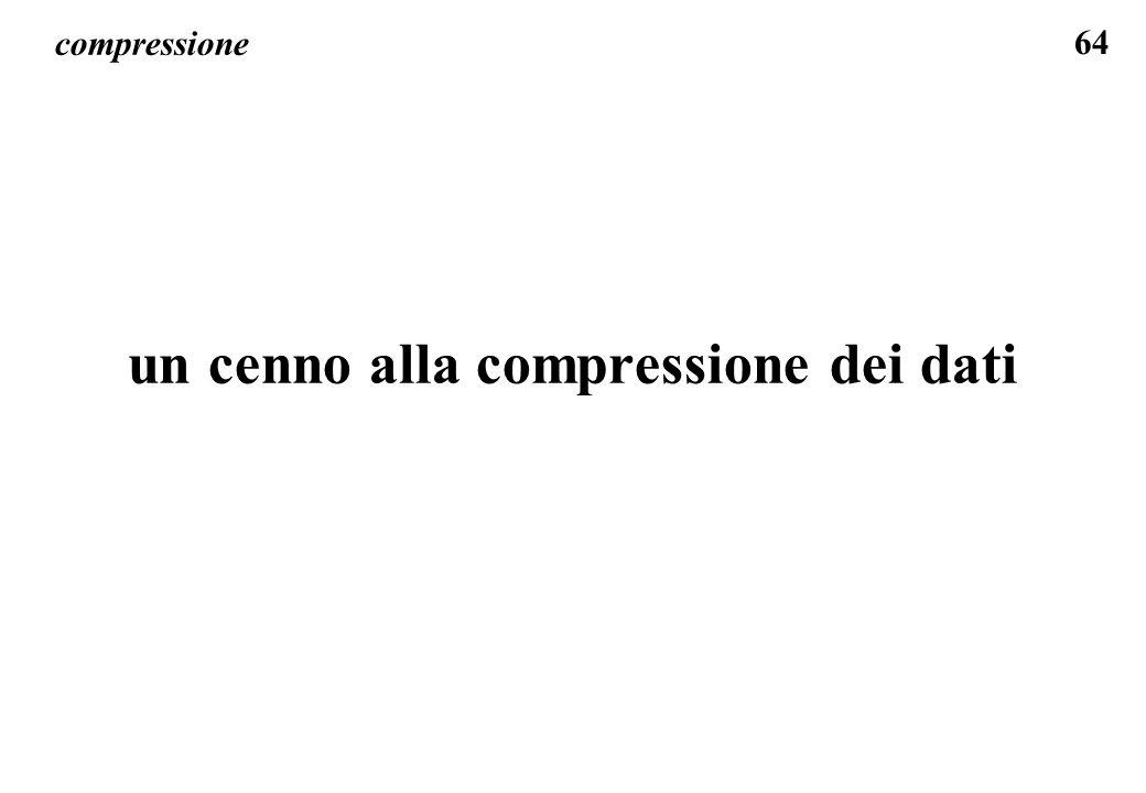 64 compressione un cenno alla compressione dei dati