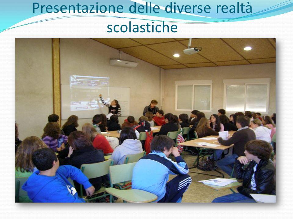 Presentazione delle diverse realtà scolastiche