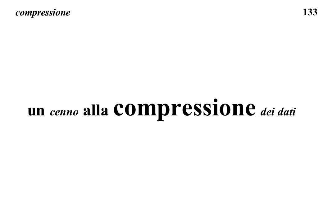 133 compressione un cenno alla compressione dei dati