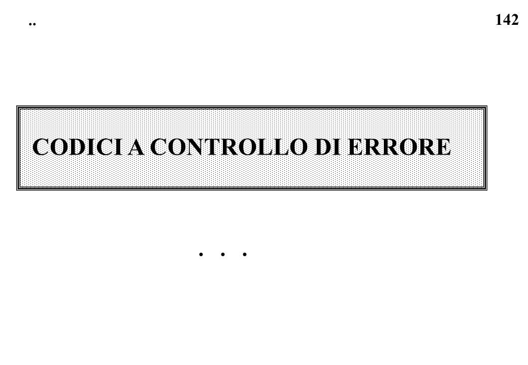 142.. CODICI A CONTROLLO DI ERRORE...