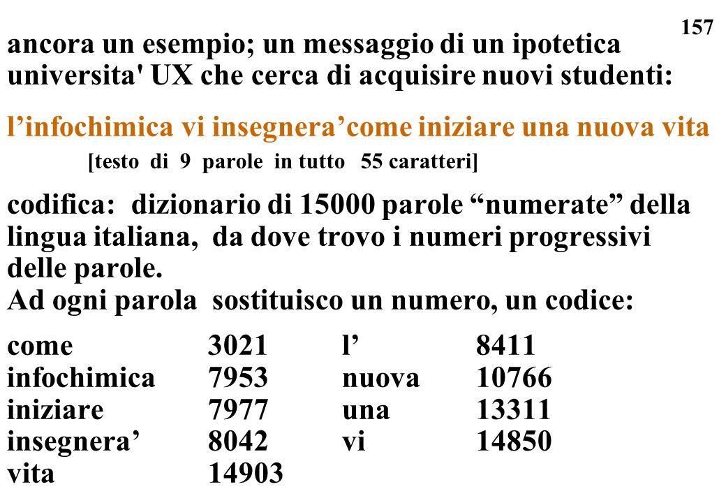 157 ancora un esempio; un messaggio di un ipotetica universita' UX che cerca di acquisire nuovi studenti: linfochimica vi insegneracome iniziare una n