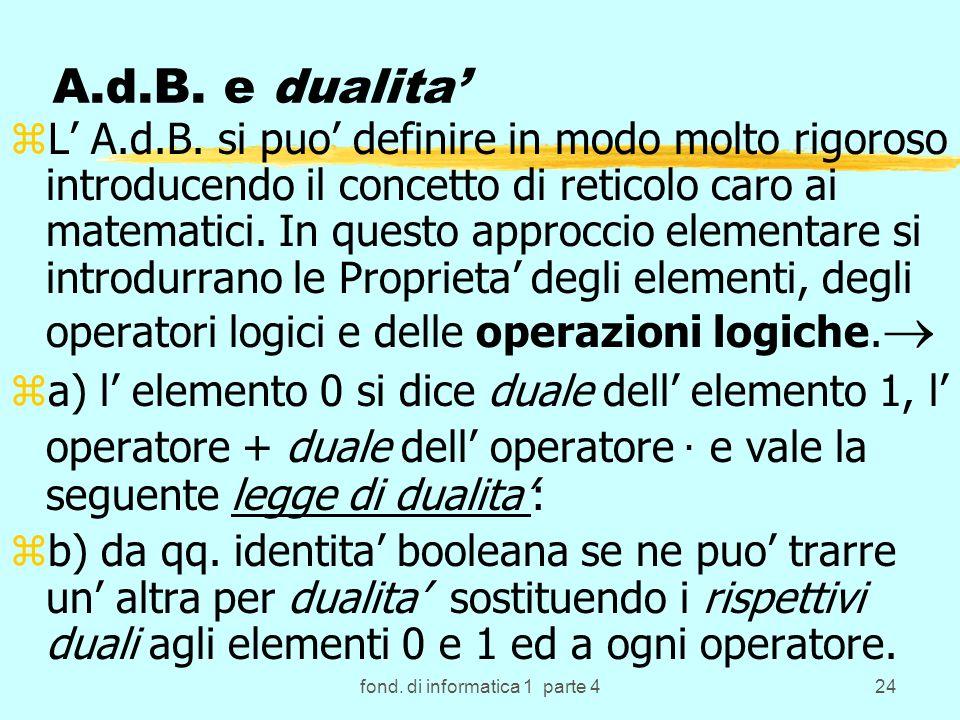fond. di informatica 1 parte 424 A.d.B. e dualita zL A.d.B.