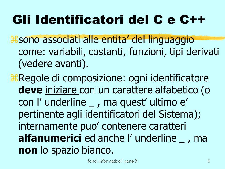 fond.informatica1 parte 367 I motivi per l introduzione dei sottoprogrammi.