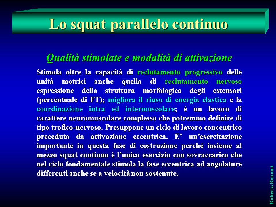Qualità stimolate e modalità di attivazione Stimola oltre la capacità di reclutamento progressivo delle unità motrici anche quella di reclutamento ner