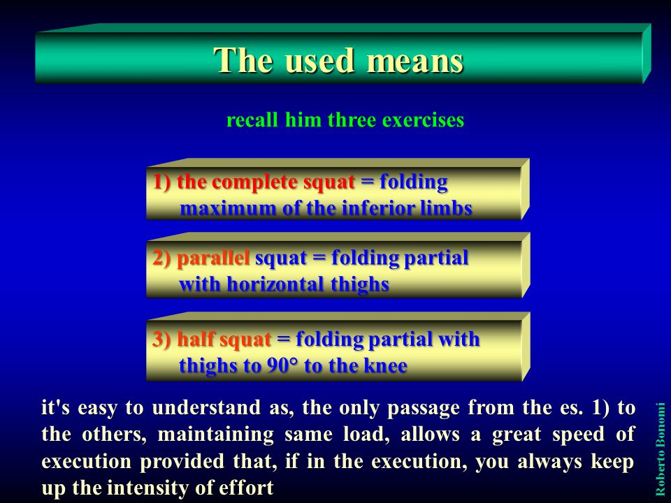 To favor a perfect balance and linearity of the kinetic chain of body segments involved, thereby ensuring a faster execution possible, using a multi- power, which may be one of the electronic equipment for data collection, also important for determine, for every exercise, the overload to be used for the realization of the maximum power.