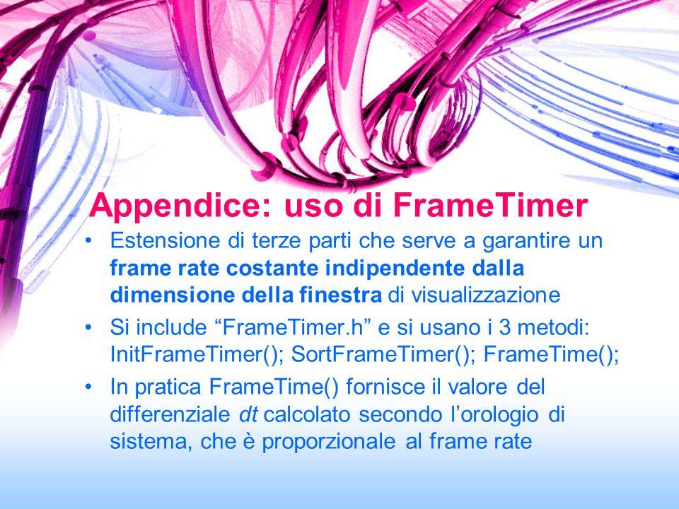 Estensione di terze parti che serve a garantire un frame rate costante indipendente dalla dimensione della finestra di visualizzazione Si include Fram
