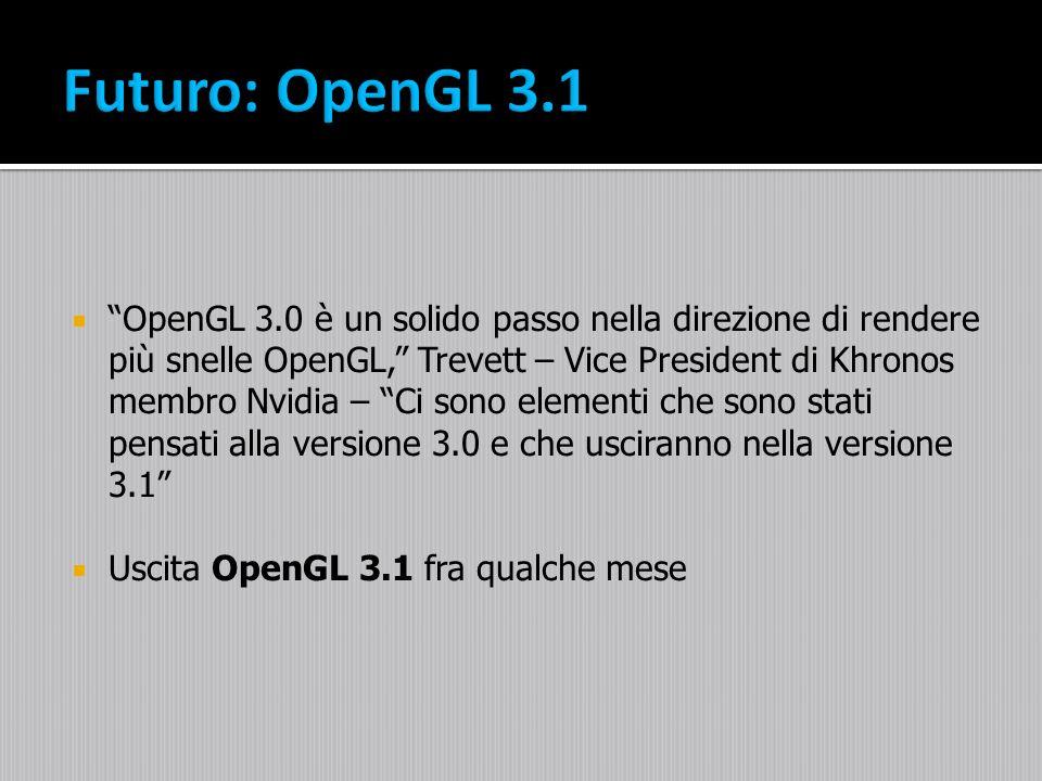 OpenGL 3.0 è un solido passo nella direzione di rendere più snelle OpenGL, Trevett – Vice President di Khronos membro Nvidia – Ci sono elementi che so