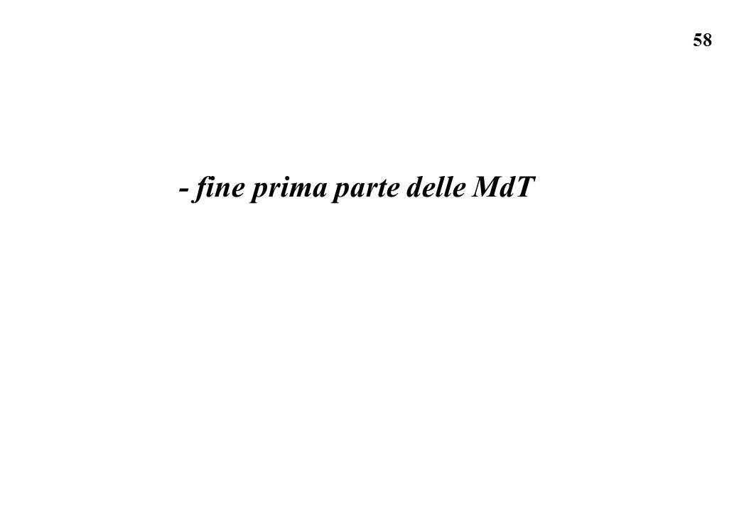 58 - fine prima parte delle MdT