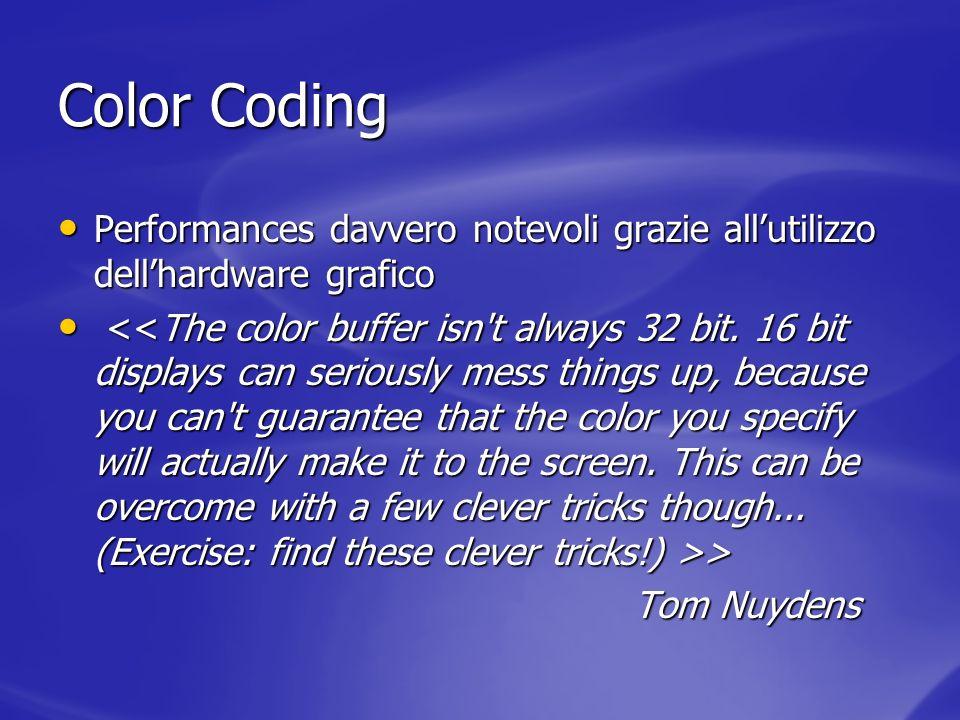 Color Coding Performances davvero notevoli grazie allutilizzo dellhardware grafico Performances davvero notevoli grazie allutilizzo dellhardware grafi
