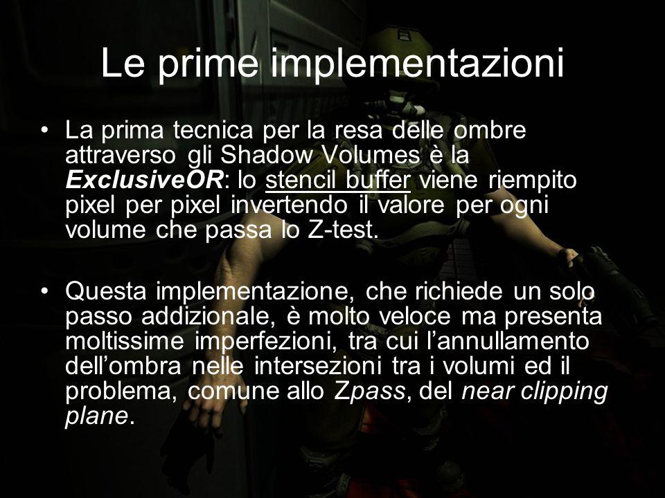 Bibliografia ZP+: Correct Z-pass Stencil Shadows, (Samuel Hornus, Jared Hoberock, Sylvain Lefebvre, John Hart) (http://artis.imag.fr/Publications/2005/HHLH05/hhlh-zp-plus.pdf)http://artis.imag.fr/Publications/2005/HHLH05/hhlh-zp-plus.pdf Stencil Shadow Volumes, (oZone3D Tutorials, http://www.ozone3d.net/tutorials/stencil_shadow_volumes.php)http://www.ozone3d.net/tutorials/stencil_shadow_volumes.php John Carmack - E-mail to private list (2000).