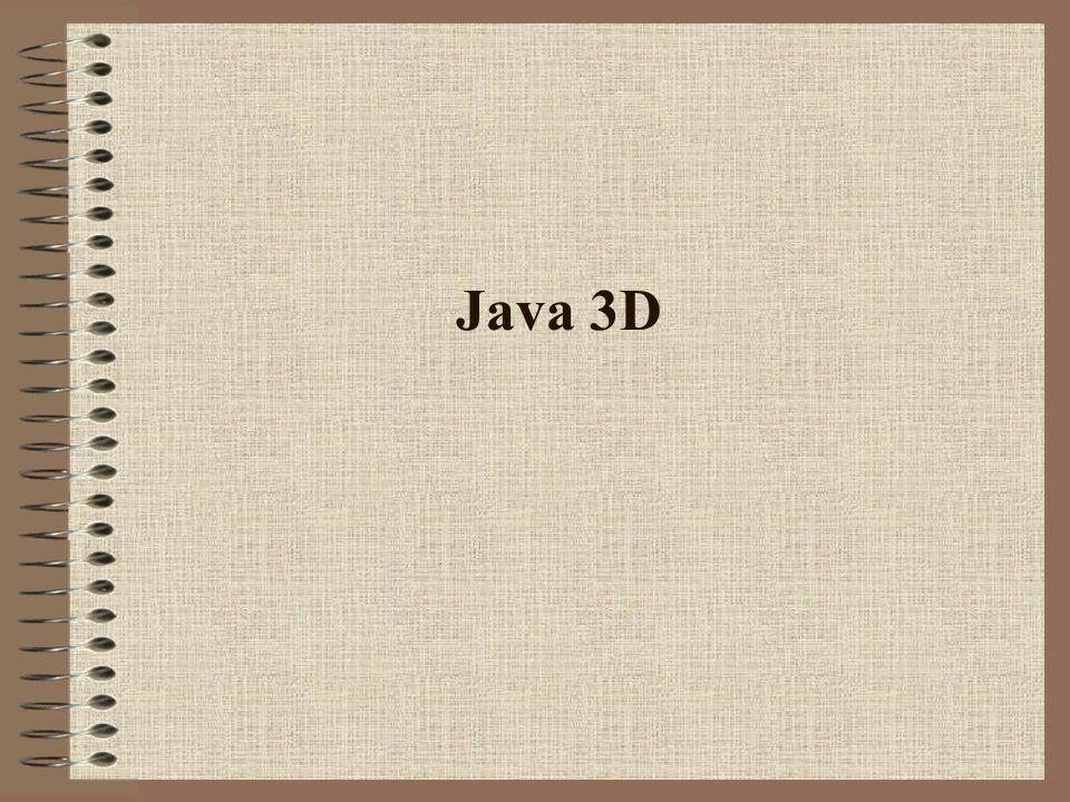 Elementi di grafica digitale - Java 3D - Gobbo Dario12 di 29 Condivisione di Attributi È possibile che due oggetti Shade3D facciano riferimento allo stesso Apparance.