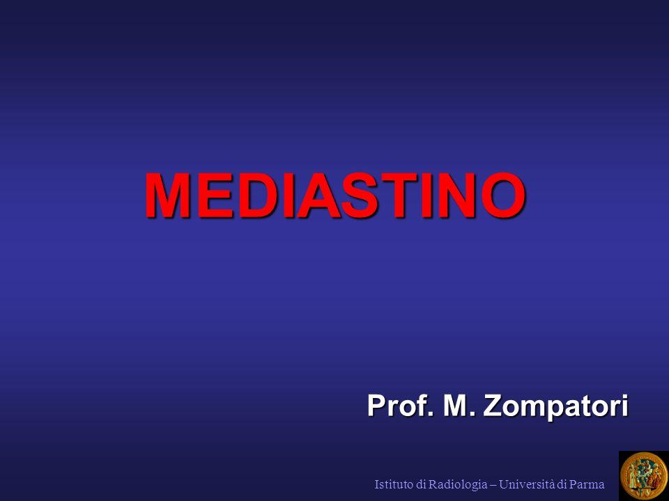 MEDIASTINO Prof. M. Zompatori Istituto di Radiologia – Università di Parma