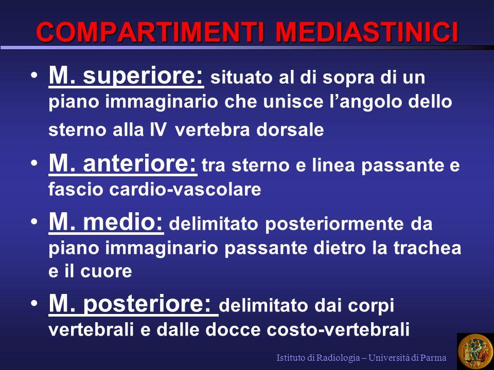 COMPARTIMENTI MEDIASTINICI M.superiore M.