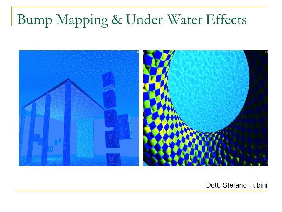 Bump Mapping & Under-Water Effects Dott. Stefano Tubini