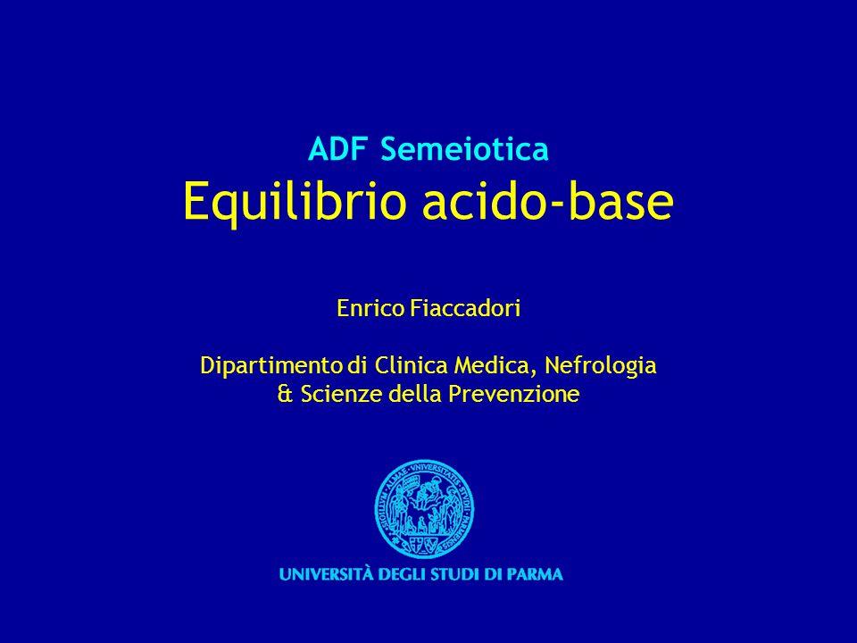 Componente respiratoria e componente metabolica dellequilibrio acido-base