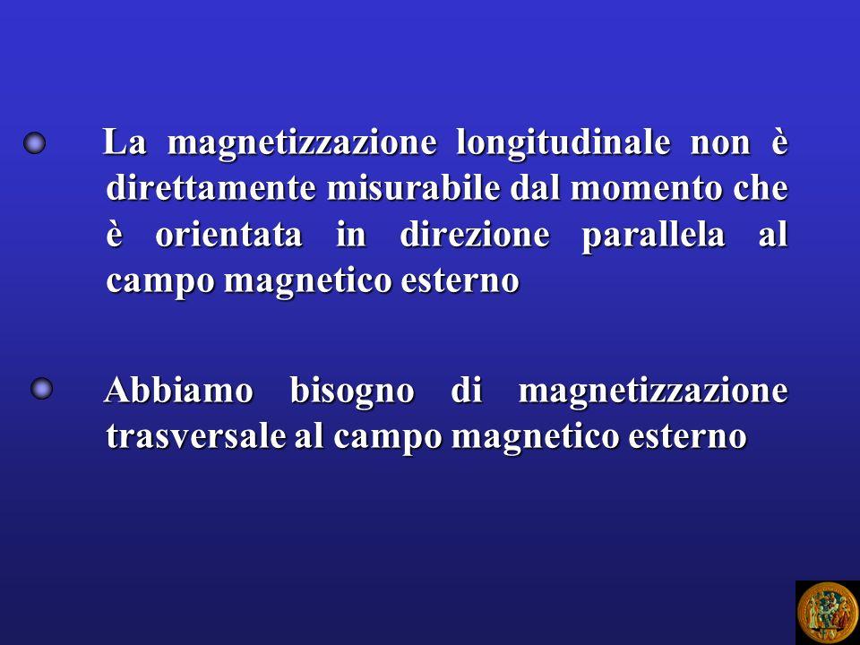 La magnetizzazione longitudinale non è direttamente misurabile dal momento che è orientata in direzione parallela al campo magnetico esterno La magnet