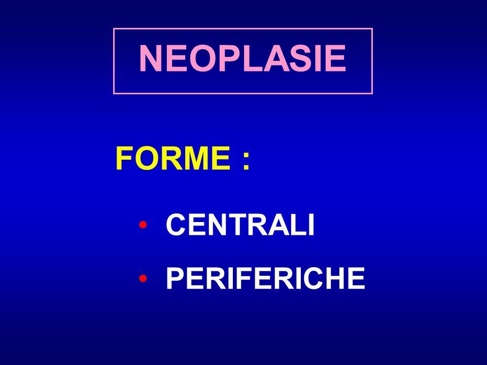 FORME : CENTRALI PERIFERICHE NEOPLASIE
