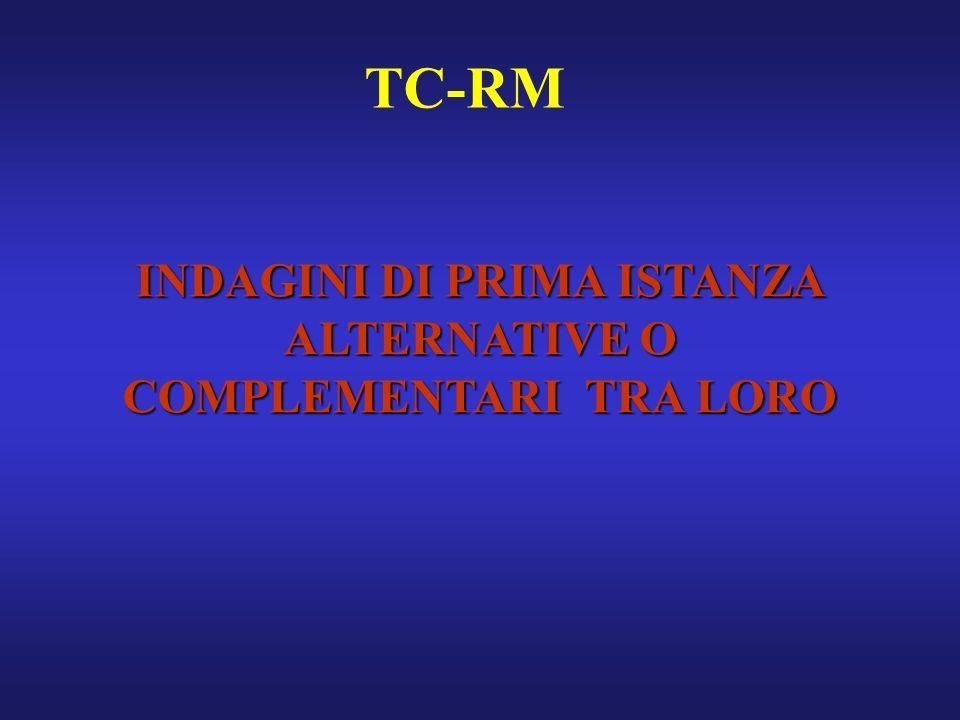 TC-RM INDAGINI DI PRIMA ISTANZA ALTERNATIVE O COMPLEMENTARI TRA LORO