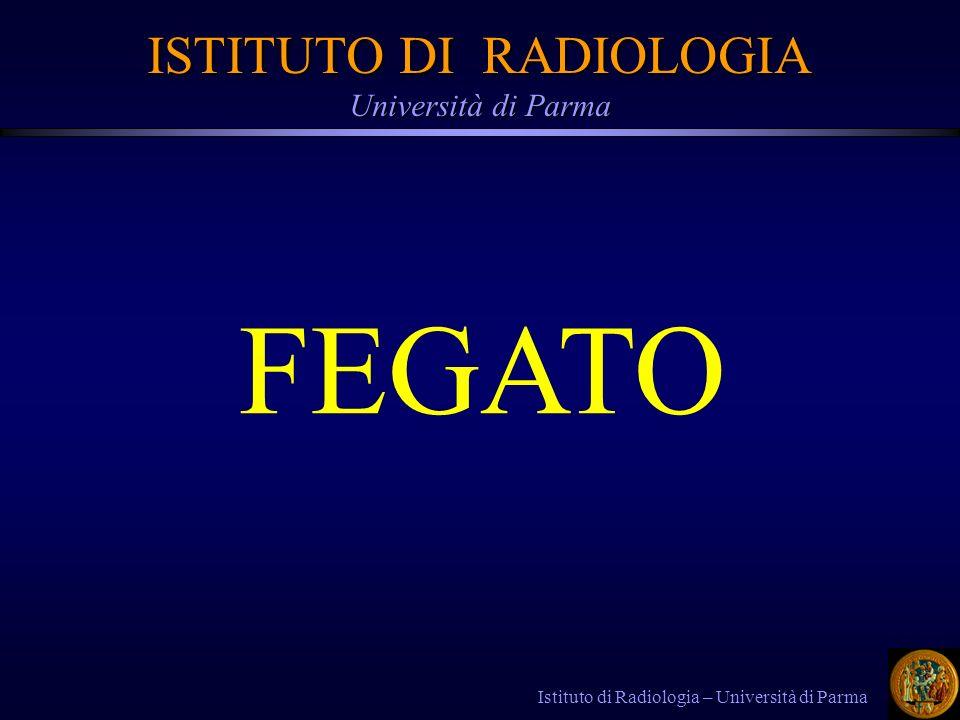 Istituto di Radiologia – Università di Parma FEGATO ISTITUTO DI RADIOLOGIA Università di Parma