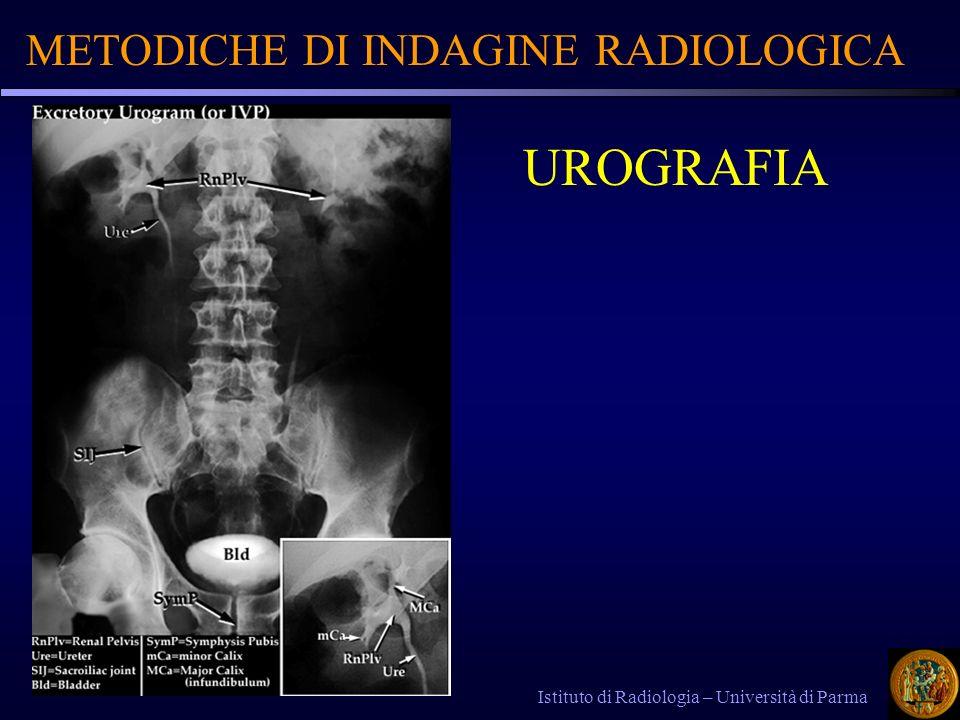 METODICHE DI INDAGINE RADIOLOGICA Istituto di Radiologia – Università di Parma UROGRAFIA