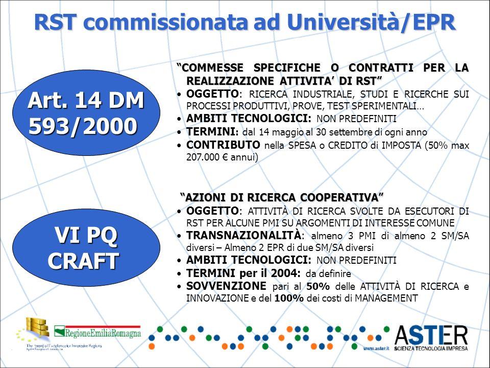RST commissionata ad Università/EPR Art.