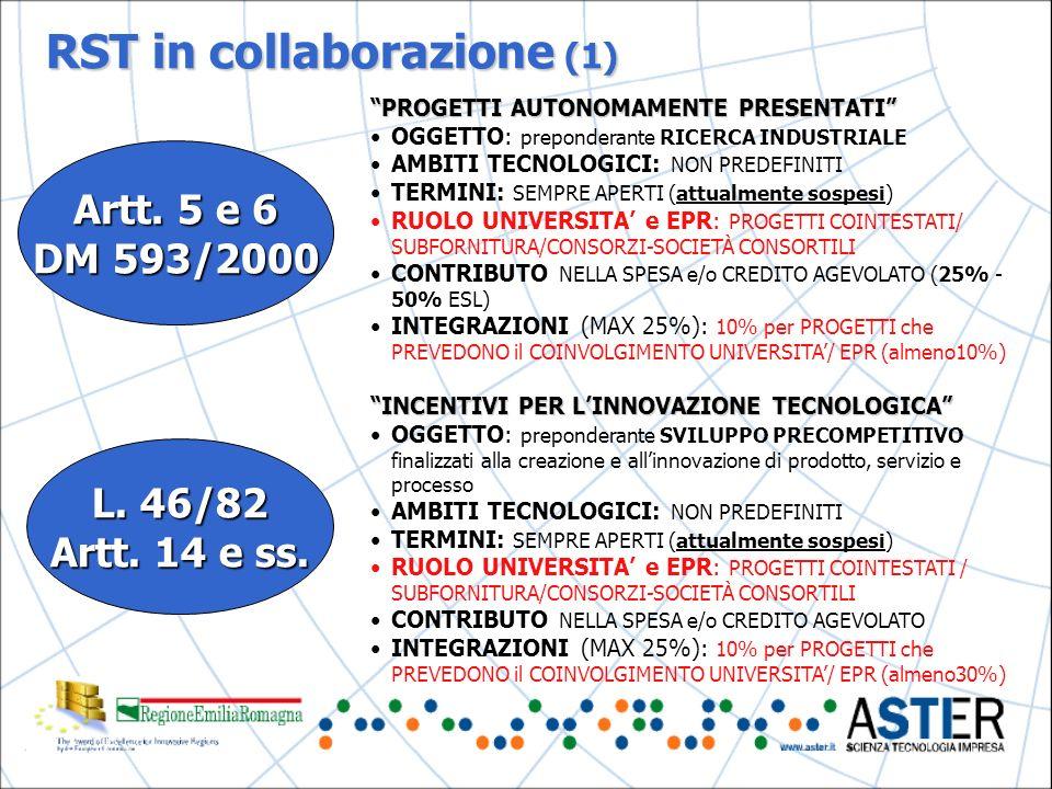 RST in collaborazione (1) Artt.