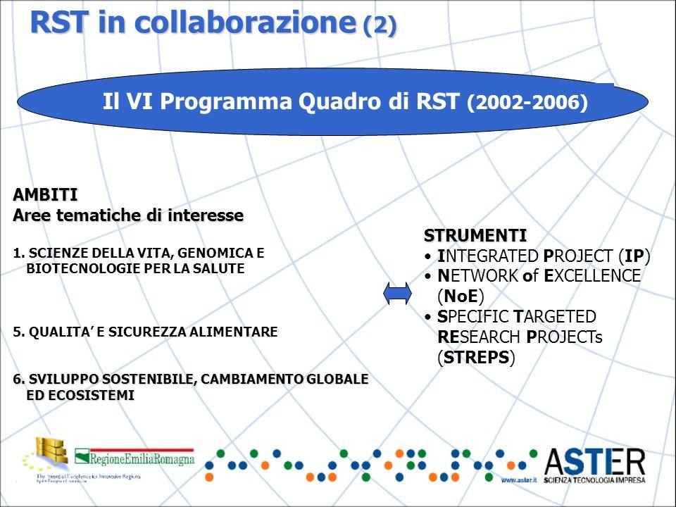 RST in collaborazione (2) AMBITI Aree tematiche di interesse 1.