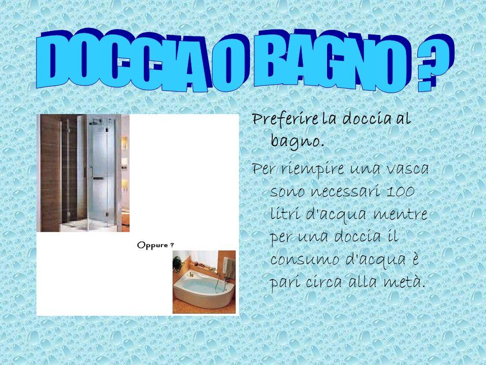 Per lavare le stoviglie è consigliabile utilizzare una vaschetta dove porre le stoviglie per insaponarle e utilizzare un debole getto d'acqua soltanto