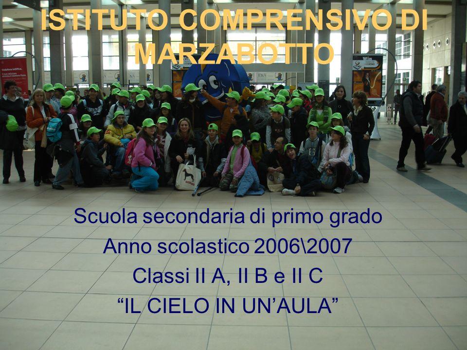 ISTITUTO COMPRENSIVO DI MARZABOTTO Scuola secondaria di primo grado Anno scolastico 2006\2007 Classi II A, II B e II C IL CIELO IN UNAULA